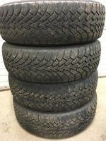 Set of 225/65R17 winter tires