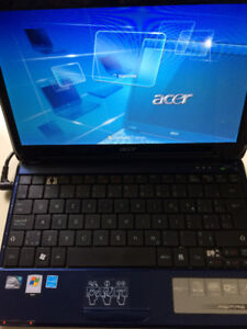 Acer Aspire One C2D 1.3, 80gb HD, 1gb Ram - Win 7 Pro