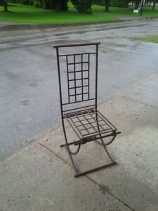 Unique steel rusted highback lawn chairs