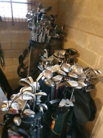 Joblot of golf clubs 9 bags 200-300