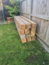 12x 150mmx150mm 1.8m long timber posts available
