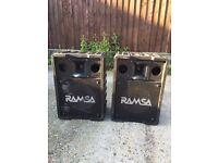 Panasonic Ramsa WS-A200E Speakers