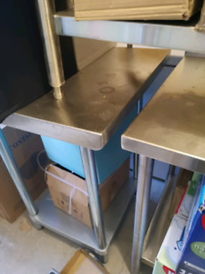Commercial kitchen prep tables