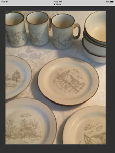 12 pce collection Manoir dishes dishwasher and microwave safe