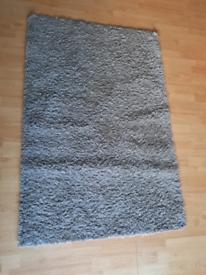 Dunelm Austin grey fluffy rug.