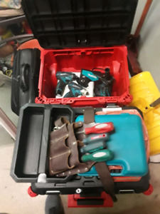 Tool box and hand and drill tools