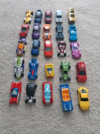 Bundle of hot wheels cars, vehicles