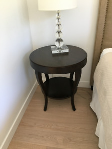 Side Table- round with shelf