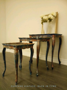 French Provincial Nesting Tables