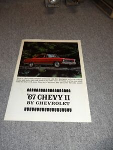 1967 ORIGINAL CHEVY 2 BROCHURE London Ontario image 1