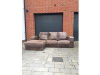 Leather Chaise Three Seater Sofa £150 o.n.o