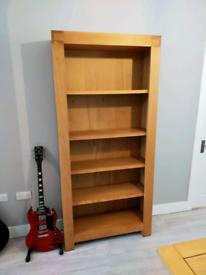 Chunky oak bookcase