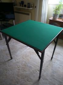 Folding card table