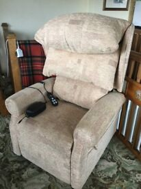 Cheshire petite waterfall recliner chair with remote