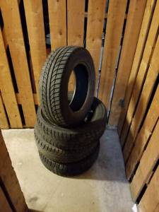 4 PNEUS HIVER + JANTE - YOKOHAMA 195 65 15 - WINTER TIRES + RIMS