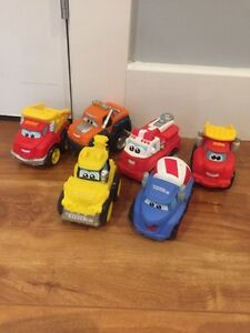 Various toy vehicle sets