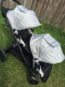 city select double stroller 2 seats,2 car seat adapters 2 covers