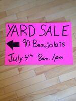 YARD SALE July 4th 8am- 1pm