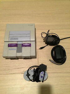 Super Nintendo System in Excellent Condition with All Hook Ups