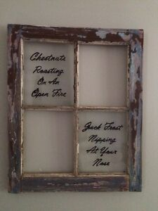 Antique window/Christmas decor