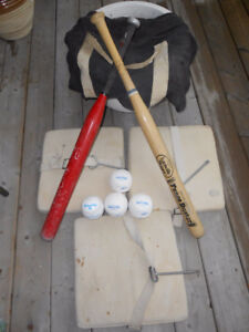 SOFTBALL EQUIPMENT SOME NEW & SOME USED