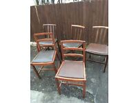 X 5 SHABBY CHIC PROJECT DINING CHAIRS ** FREE DELIVERY AVAILABLE TONIGHT **
