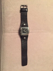 Leather Strap Fossil Watch