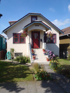 AVAILABLE NOW: Beautiful Character Home in Commercial Drive area