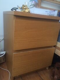 IKEA MALM bedside table - chest of 2 drawers