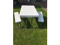 Foldaway Camping/Caravan Table and Benches