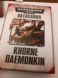 Warhammer 40k datacards Khorne Daemonkin cards