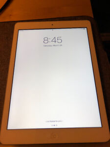 iPad Air (White - Lightly Used) & Apple Brand Cover