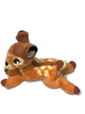 "Disney Store Bambi Plush Deer Soft Floppy Stuffed Animal Toy 11"" Long Plush"