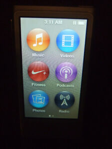 Apple iPod Nano 7th Gen 16GB Silver with Bluetooth
