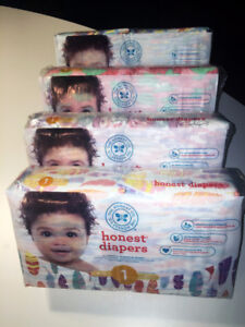 DIAPERS, SIZE 1 AND 2, PAINTED FEATHERS