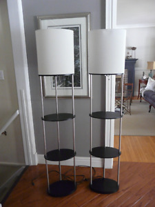 Contemporary Etagere Floor Lamps $100 for the pair