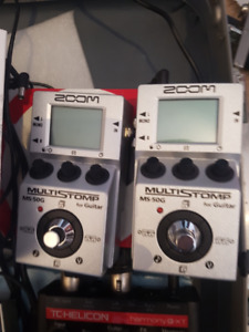 2 Zoom MS-50g multi pedals