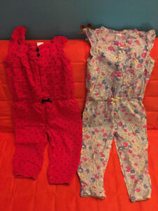 Carter's 2 combinaisons/jumpsuits