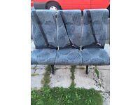 Transit rear seat bench