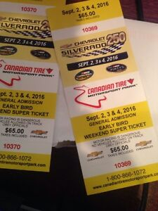 Nascar Camping truck series tickets ,Bowmanville Ontario