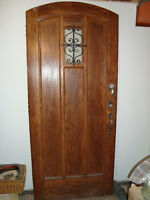 Solid Wood Exterior Door With Radius