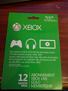 12 MONTH XBOX LIVE TIME CARD