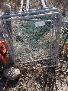 3 chain link fence gates
