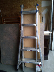 WERNER 22Aluminium Ladder, step ladder, grain scoop, BROOM STIFF
