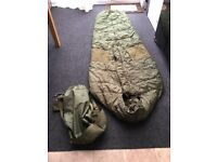 Army Sleeping bag with cover.