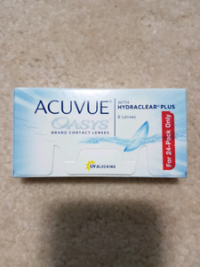 Unopened +2.75 Acuvue Oasis contact lenses