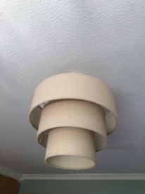 Cream 3 tier light shade in excellent condition..