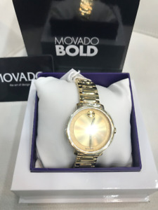 Bold Rale Gold Dial Pale Gold-tone Ladies Watch 3600502 New