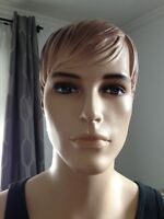 "Attractive male mannequin, stands 6"" tall for sale."
