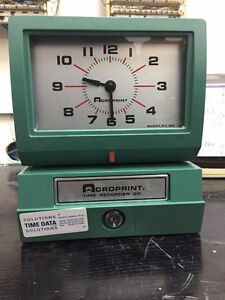 ACROPRINT 150 / TIME CLOCK / MECANICAL / 500 TIME CARDS FREE